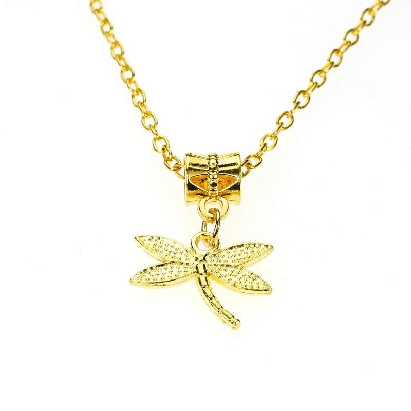 Beautiful Unique Dangling Dragonfly Design Solid Gold Pendant By Jewelry Lane