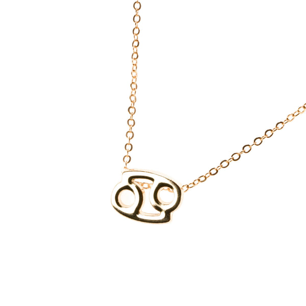 Beautiful Design Zodiac Chic Cancer Solid Gold Pendant By Jewelry Lane