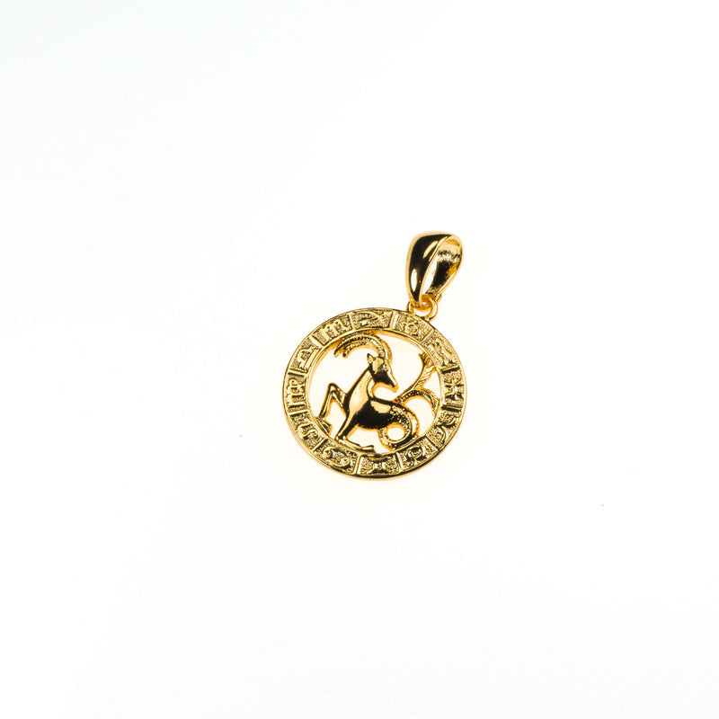 Beautiful Zodiac Capricorn Solid Gold Pendant By Jewelry Lane
