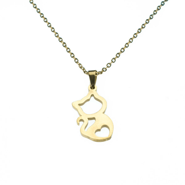 Beautiful Charming Kitty Love Solid Gold Pendant By Jewelry Lane