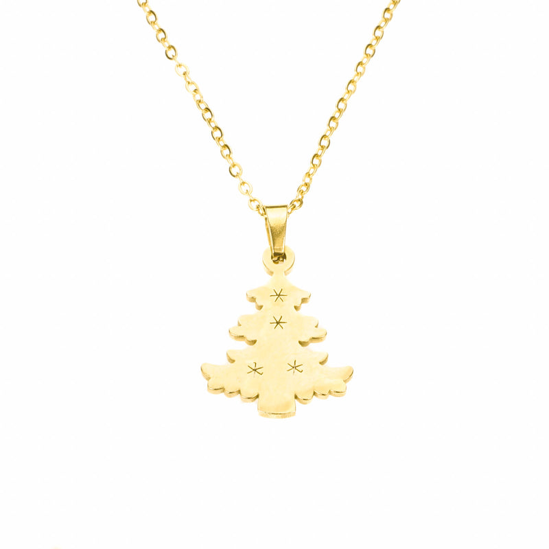 Beautiful Charming Christmas Tree Solid Gold Pendant by Jewelry Lane