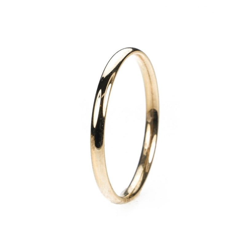 Simple Sleek Classic Solid Gold Band Ring By Jewelry Lane