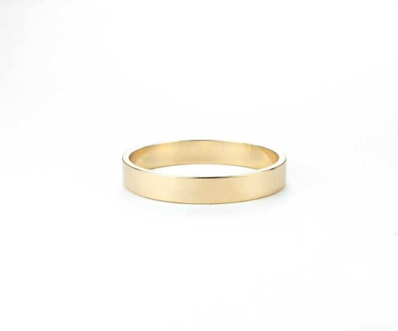 Elegant Simple Classic Solid Gold Band Ring By Jewelry Lane