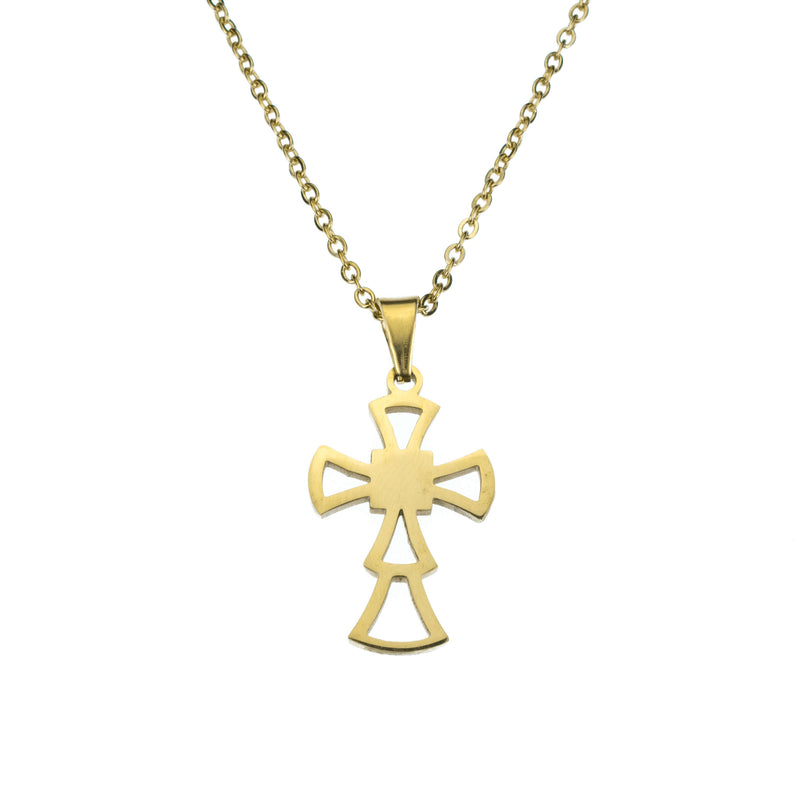 Beautiful Religious Jesus Cross Solid Gold Pendant By Jewelry Lane