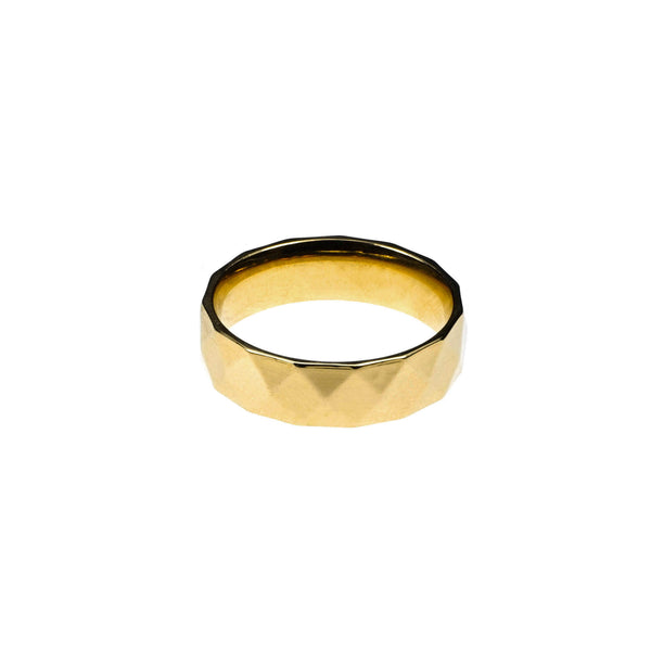 Elegant Classic Diamond Cut Solid Gold Band Ring By Jewelry Lane