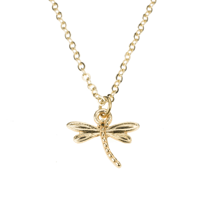 Beautiful Charming Dragonfly Solid Gold Pendant By Jewelry Lane