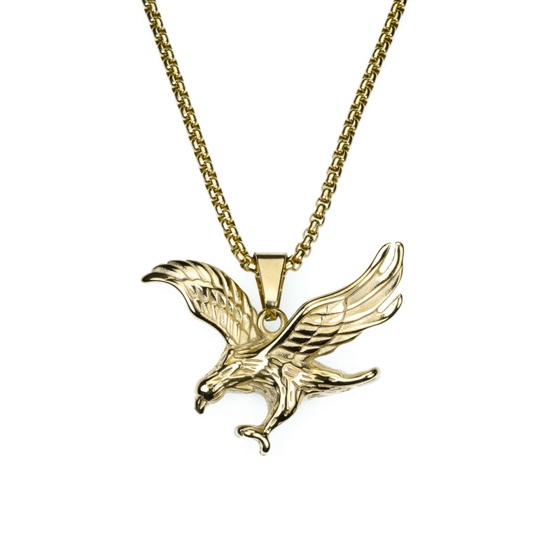 Exquisite Vintage Striking Eagle Solid Gold Pendant By Jewelry Lane