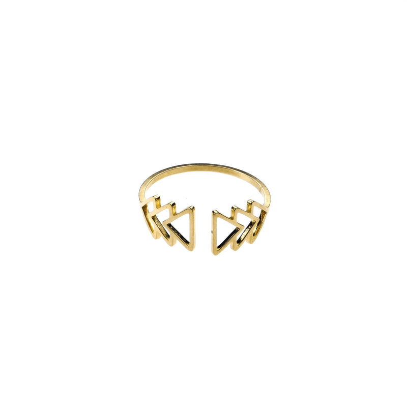 Elegant Beautiful Fast Forward Stacker Solid Gold Ring By Jewelry Lane