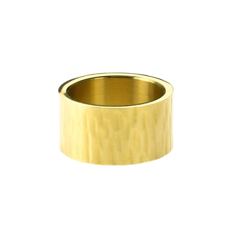 Beautiful Simple Flat Design Solid Gold Band Ring By Jewelry Lane
