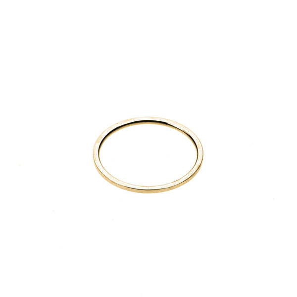 Plain Simple Endless Design Solid Gold Band Ring By Jewelry Lane