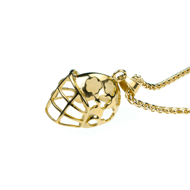 Elegant Sporty Football Helmet Design Solid Gold Pendant By Jewelry Lane