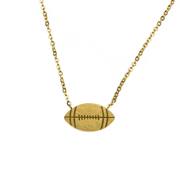 Beautiful Unique Football Solid Gold Pendant By Jewelry Lane
