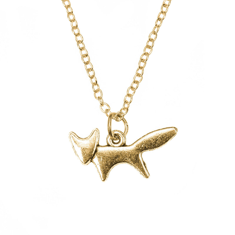 Beautiful Unique Fox Design Solid Gold Necklace By Jewelry Lane