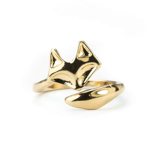 Beautiful Charming Fox Solid Gold Ring By Jewelry Lane