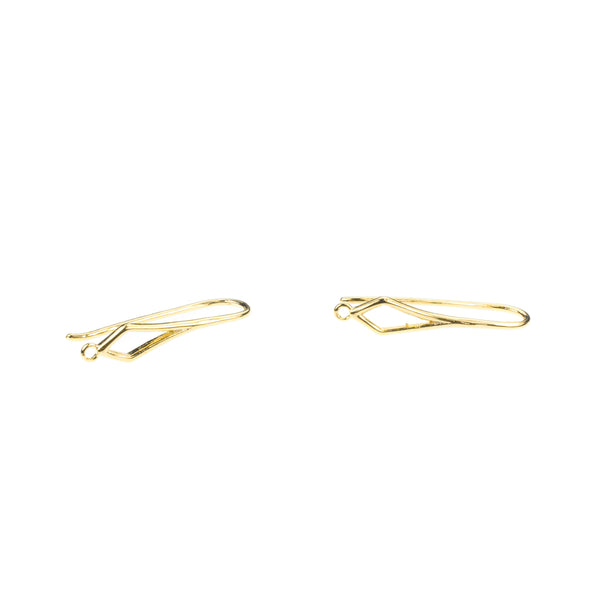 Beautiful Sleek French Hook Solid Gold Earrings By Jewelry Lane