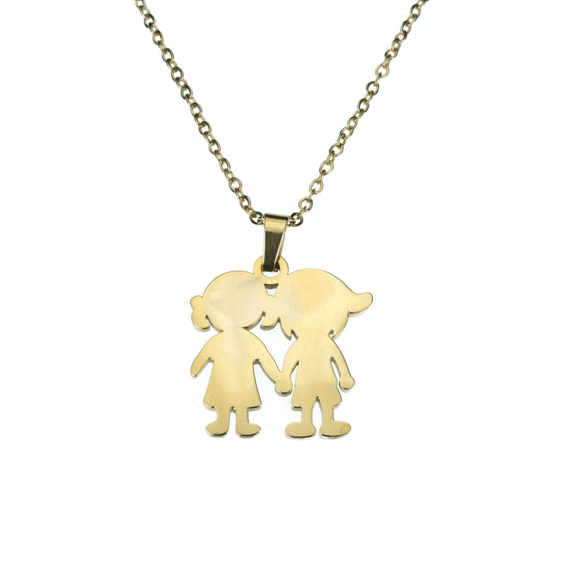 Beautiful Charming Friendship Love Solid Gold Necklace By Jewelry Lane
