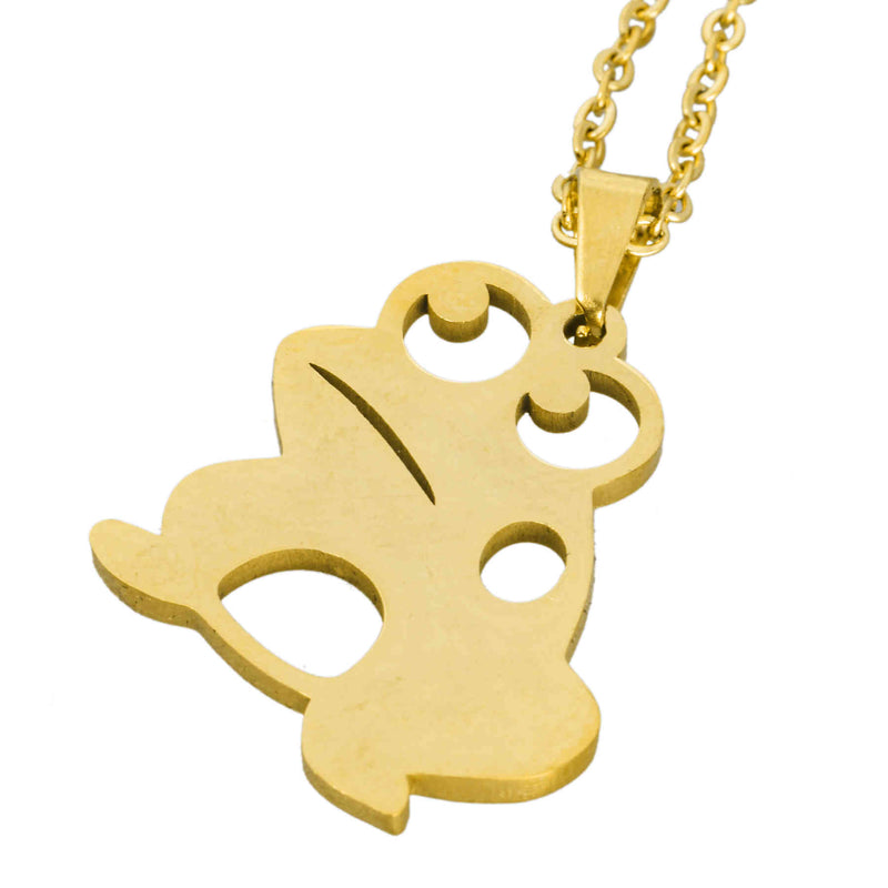 Beautiful Frog Prince Solid Gold Pendant by Jewelry Lane