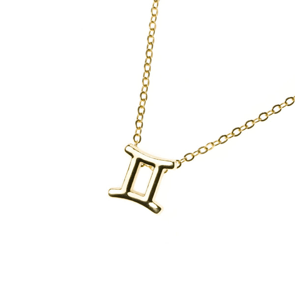Beautiful Design Zodiac Chic Gemini Solid Gold Pendant By Jewelry Lane