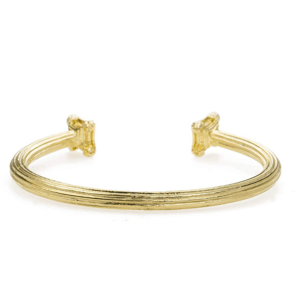 Beautiful Solid Gold Greek Column Bangle by Jewelry Lane