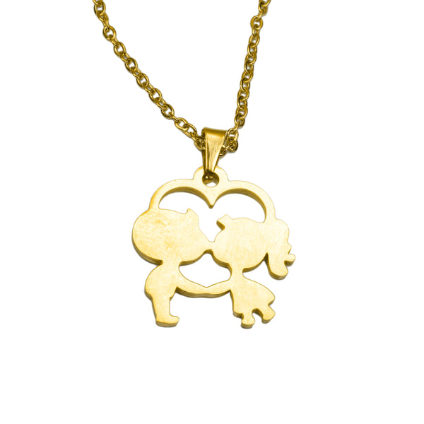 Beautiful Charming Love Kiss Heart Solid Gold Pendant By Jewelry Lane