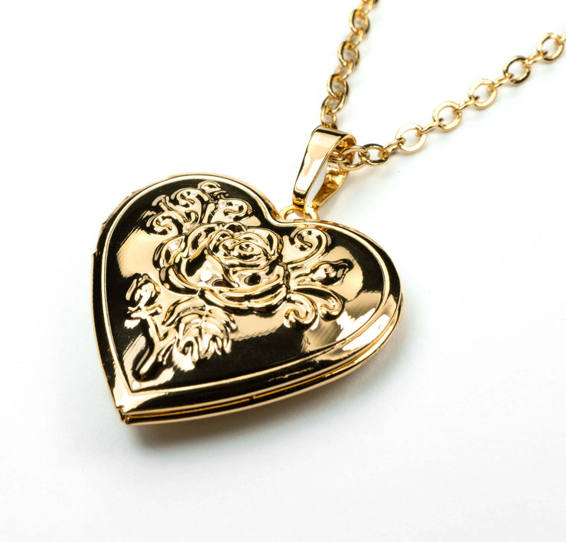 Beautiful Charming Heart Love Locket Solid Gold Necklace By Jewelry Lane