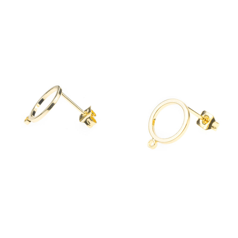 Beautiful Simple Evergreen Hoop Solid Gold Earrings By Jewelry Lane