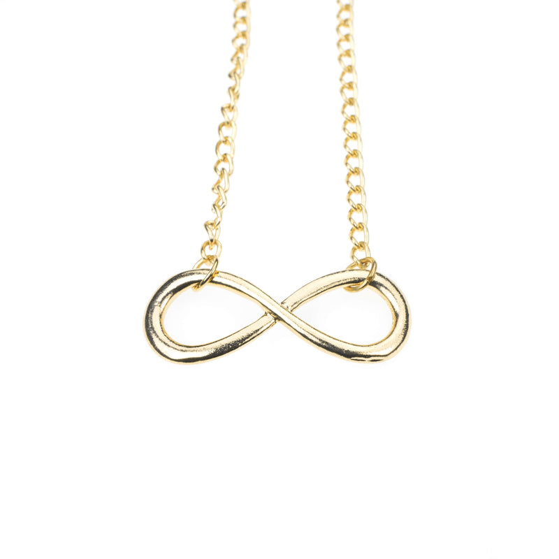 Unique Mathematical Infinity Sign Solid Gold Necklace By Jewelry Lane
