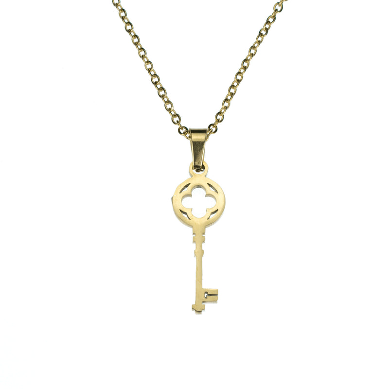 Beautiful Stylish Antique Key Design Solid Gold Pendant By Jewelry Lane