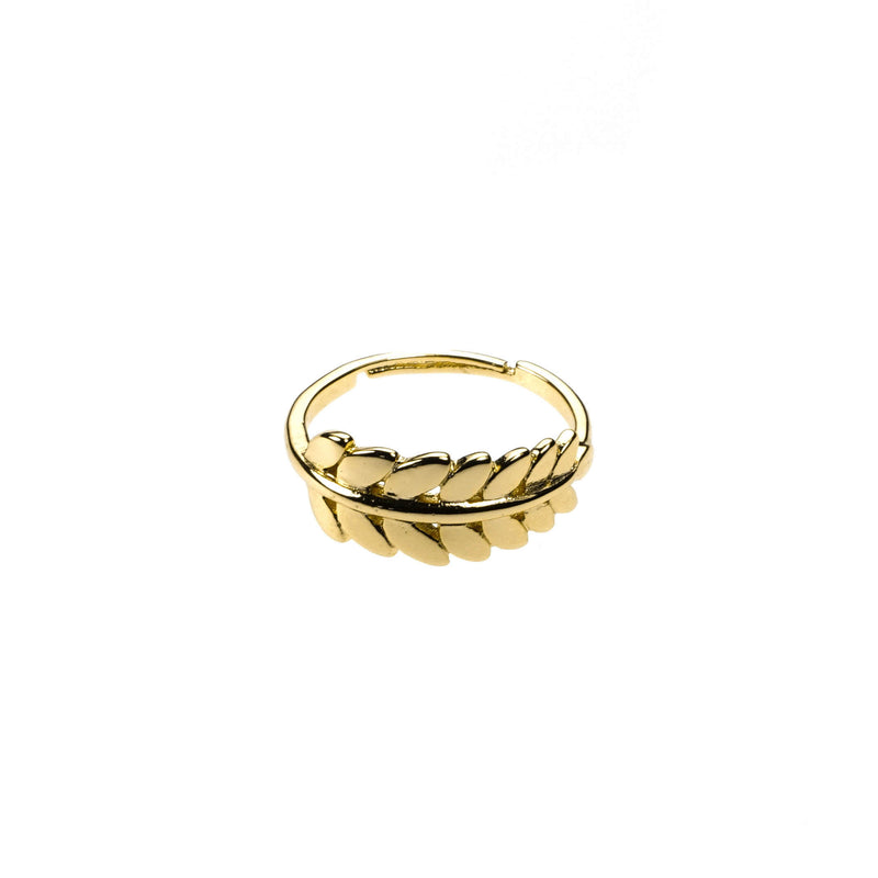 Beautiful Elegance Leaf Stacker Solid Gold Ring By Jewelry Ring