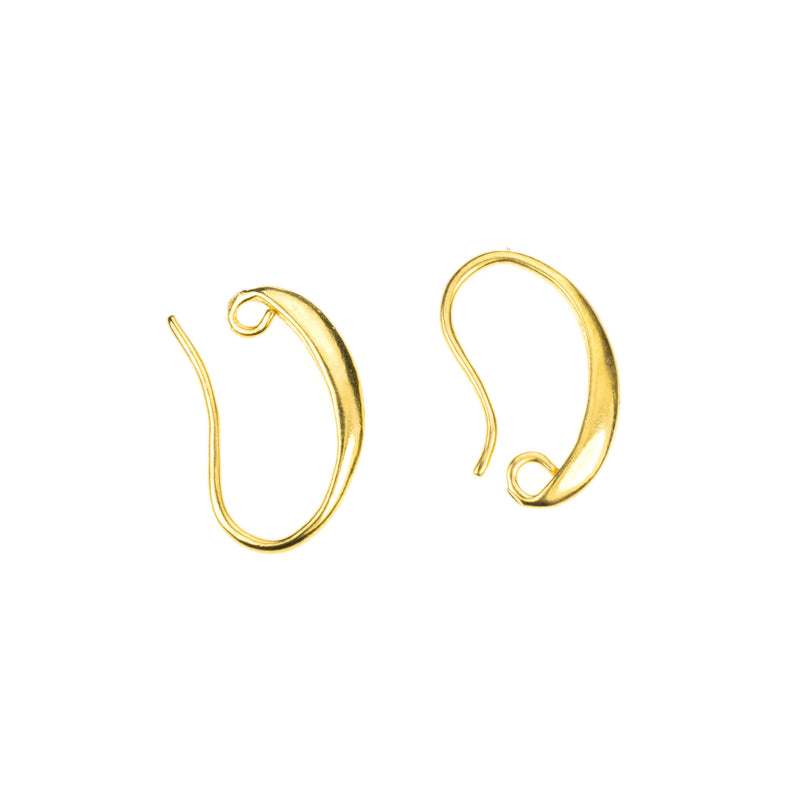 Simple Evergreen Lever Back Solid Gold Earrings By Jewelry Lane