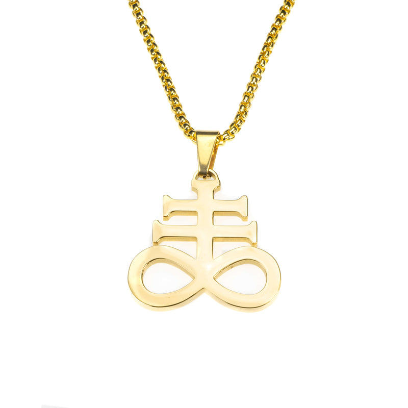 Beautiful Unique Leviathan Cross Solid Gold Pendant By Jewelry Lane