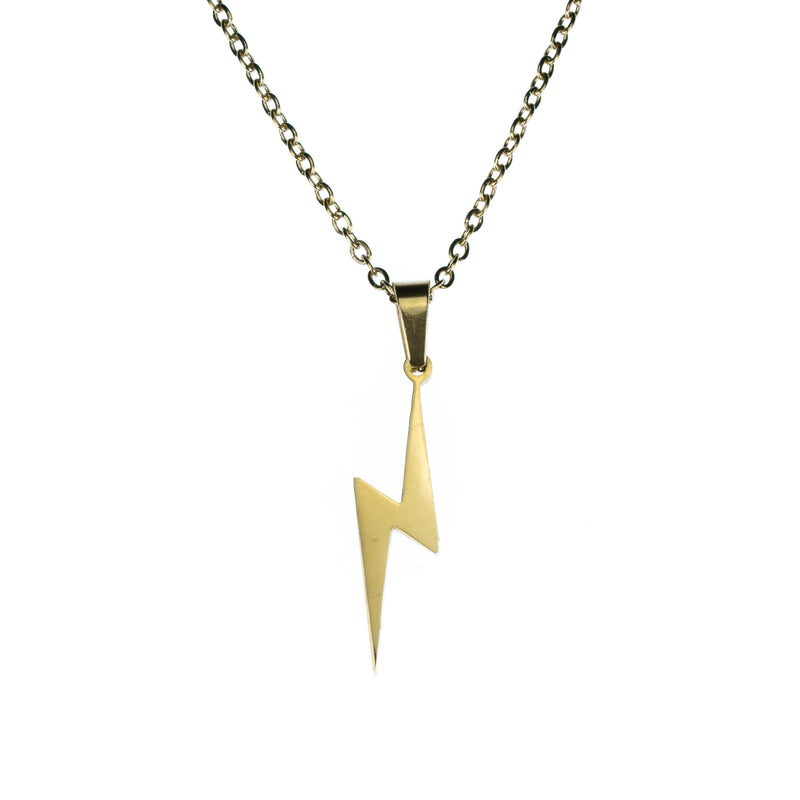Beautiful Unique Lightning Bolt Solid Gold Pendant By Jewelry Lane