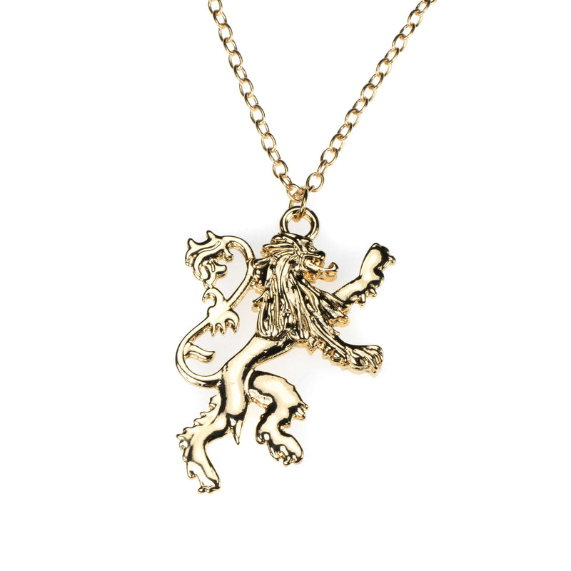 Exquisite Royal Lion Crest Solid Gold Pendant By Jewelry Lane
