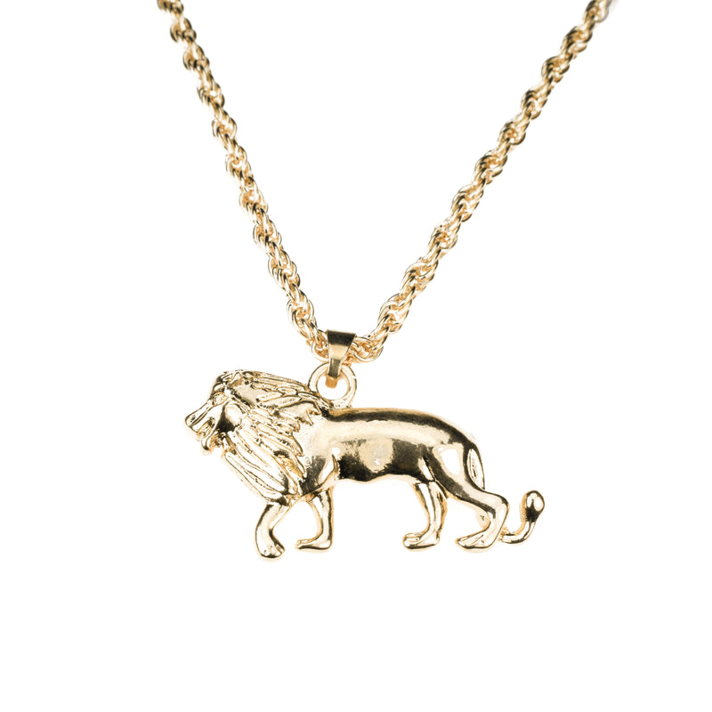 Elegant Royal Lion Solid Gold Pendant By Jewelry Lane