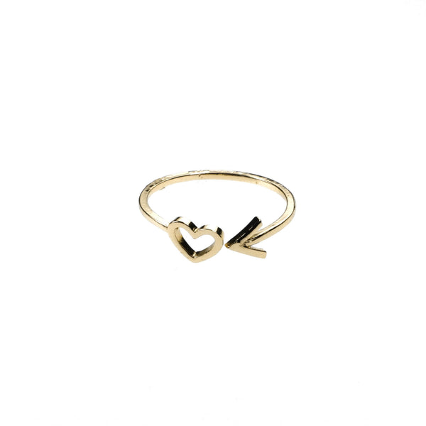 Beautiful Charming Love First Stacker Solid Gold Ring By Jewelry Lane