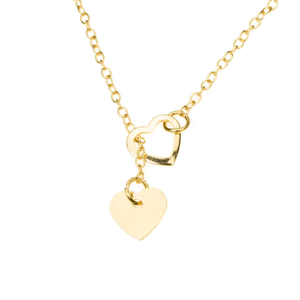 Beautiful Romantic True Love Heart Solid Gold Necklace By Jewelry Lane