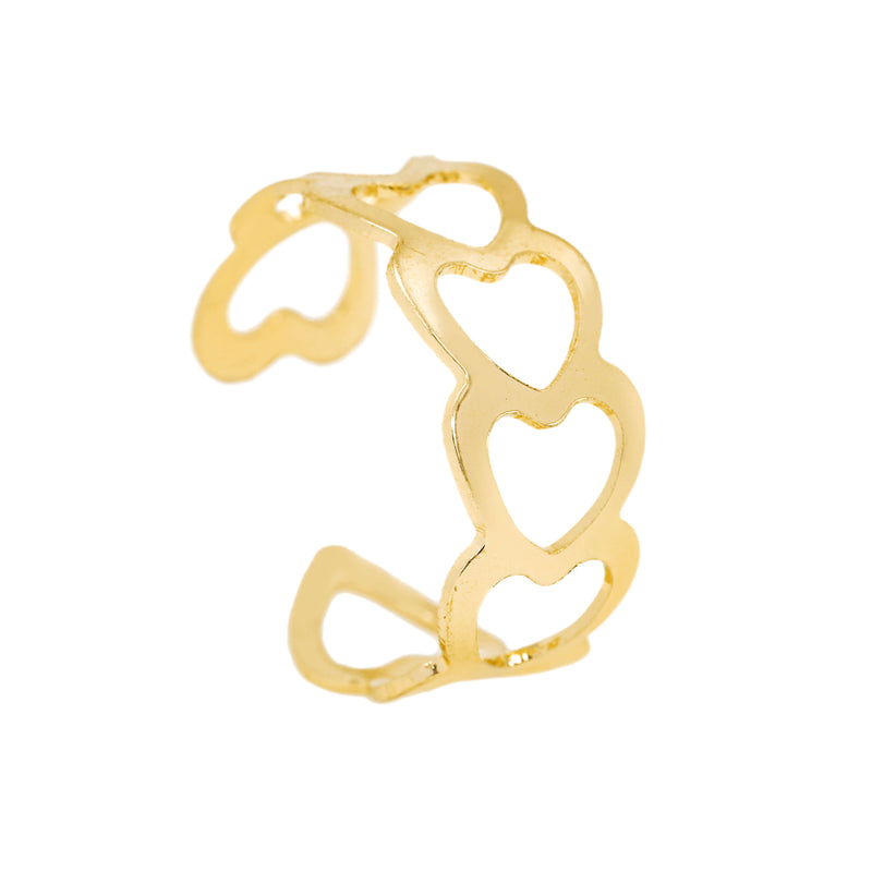 Beautiful Endless Love Multi Hearts Solid Gold Ring By Jewelry Lane