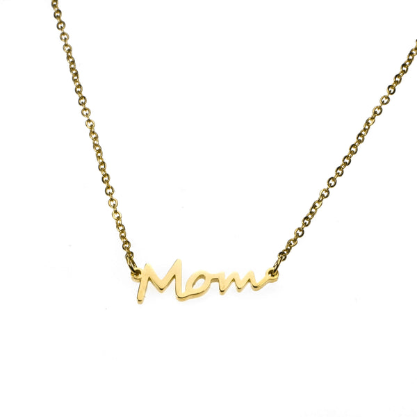 Beautiful Perfectly Crafted Mom Solid Gold Necklace By Jewelry Lane