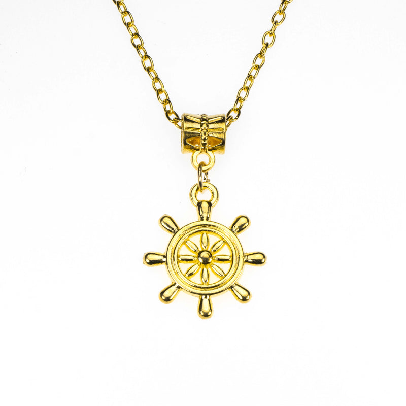 Beautiful Vintage Nautical Style Solid Gold Pendant By Jewelry LAne
