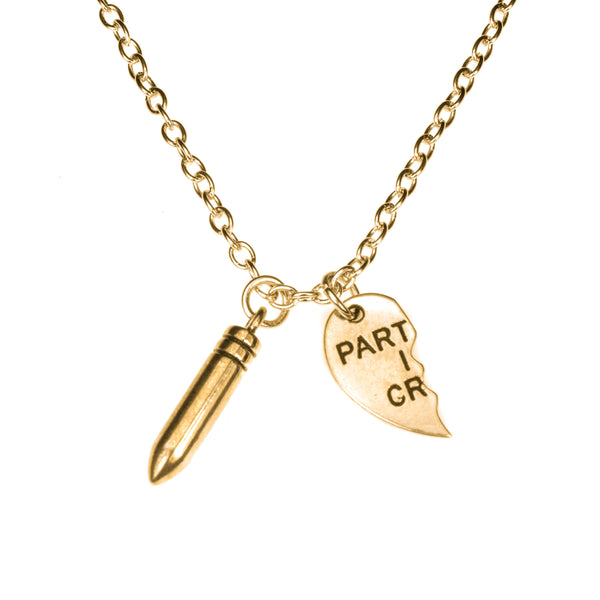 Unique Partners In crime Right Half Solid Gold Pendant By Jewelry Lane