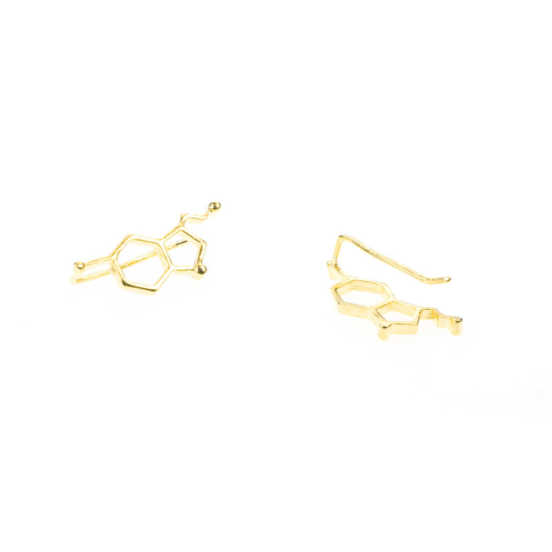 Serotonin Minimalist Style Solid Gold Earrings By Jewelry Lane