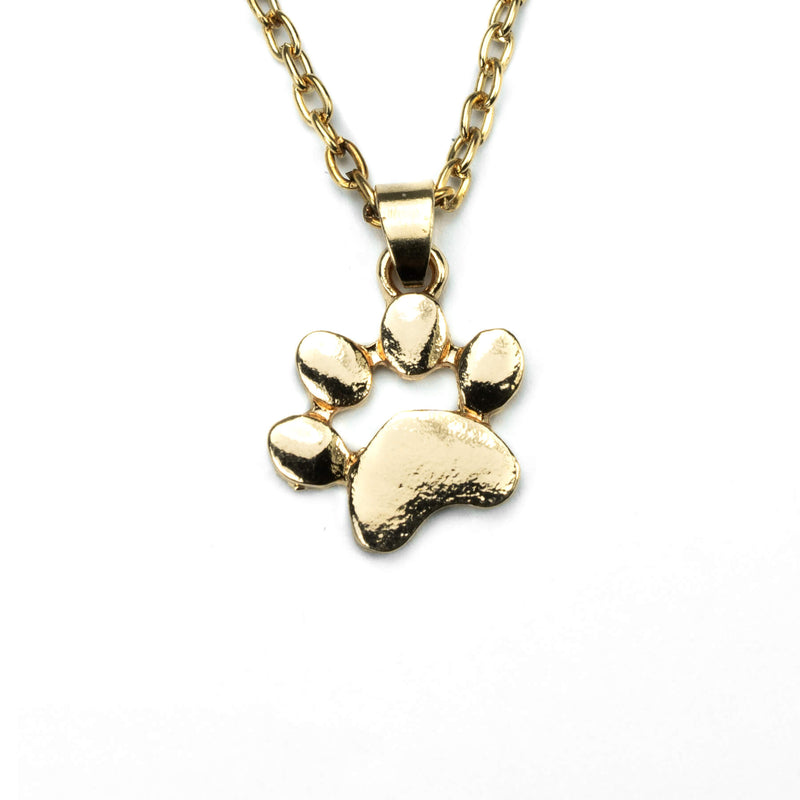 Charming Unique Pet Paw Solid Gold Pendant By Jewelry Lane