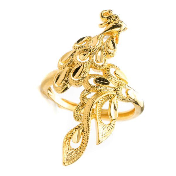 Elegant Phoenix Solid Gold Ring By Jewelry Lane