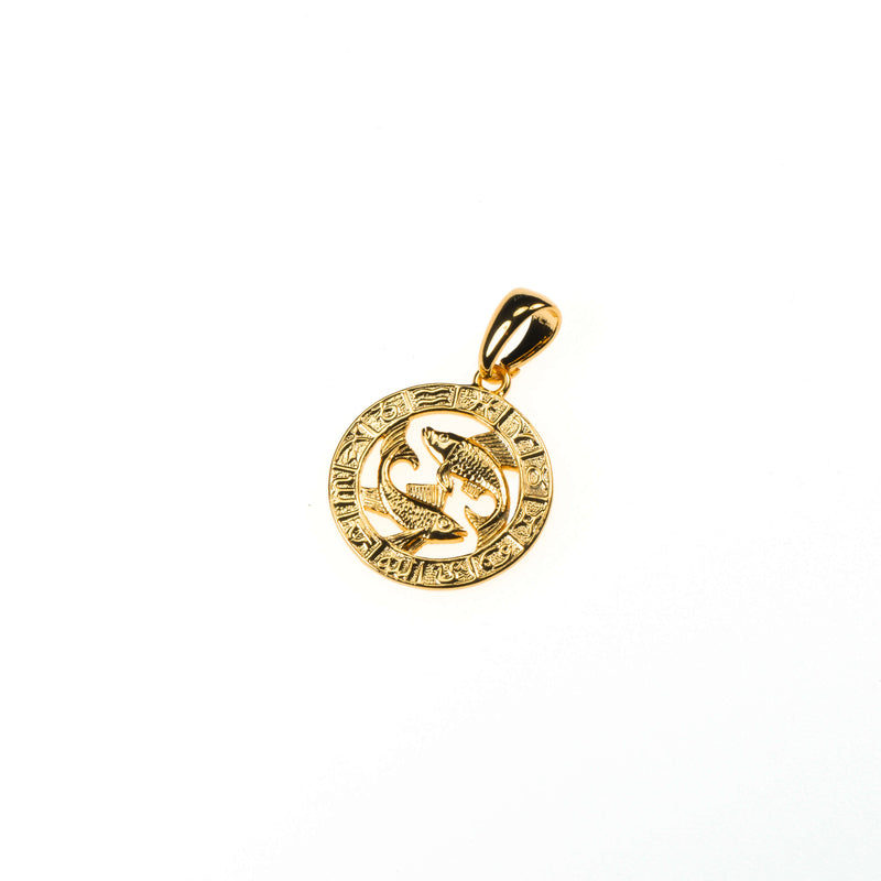 Beautiful Zodiac Pisces Solid Gold Pendant By Jewelry Lane