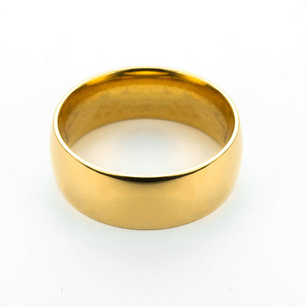Beautiful Simple Plain Solid Gold Band Ring By Jewelry Lane