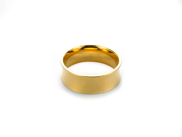 Elegant Classic Convex Design Solid Gold Band Ring By Jewerly Lane