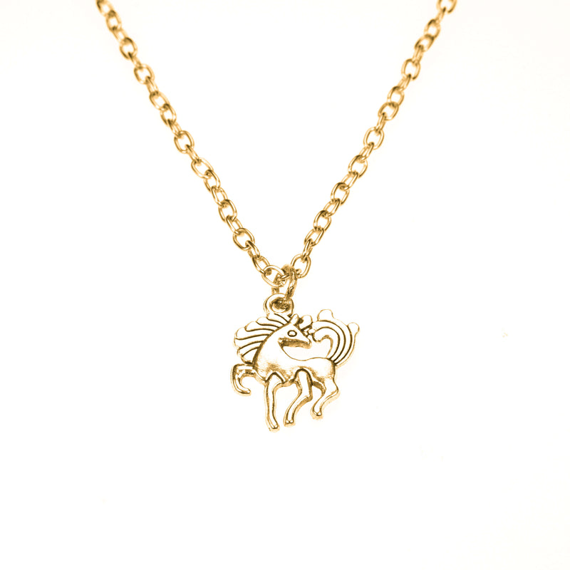 Beautiful Charming Pony Horse Solid Gold Pendant By Jewelry Lane