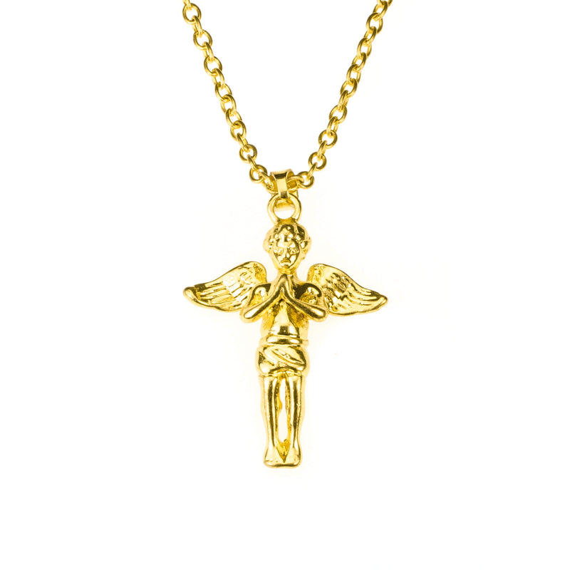 Beautiful Religious Prayer Cross Solid Gold Pendant By Jewelry Lane