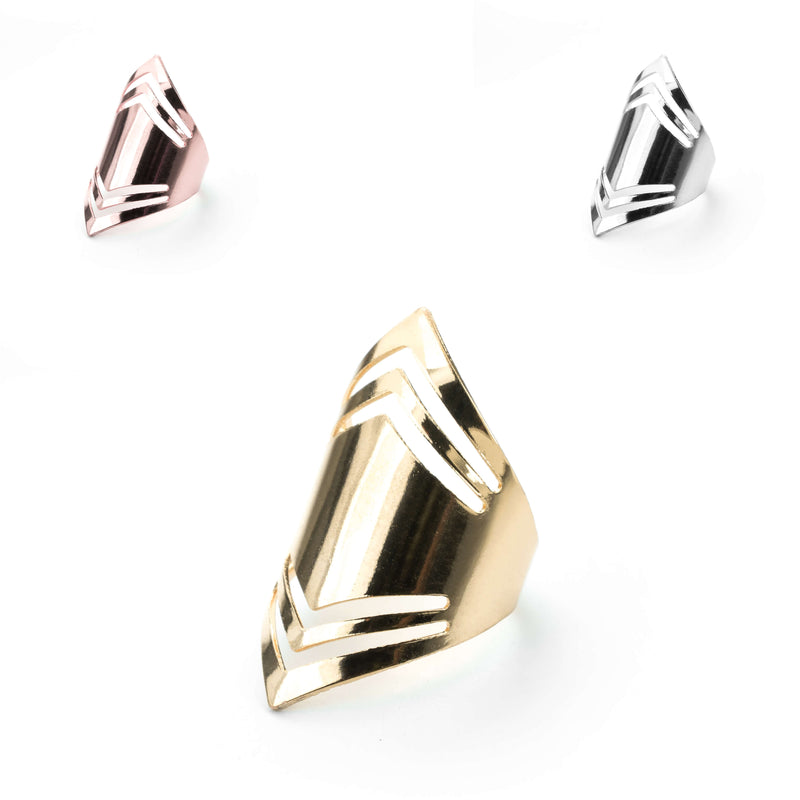 Elegant Amazonian Elongated Solid Gold Rings By Jewelry Lane