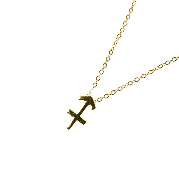 Beautiful Design Zodiac Chic Sagittarius Solid Gold Pendant By Jewelry Lane